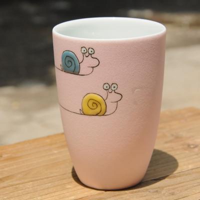 创意手工陶瓷杯子手绘马克杯陶艺水杯磨砂个性情侣定制礼物萌物杯