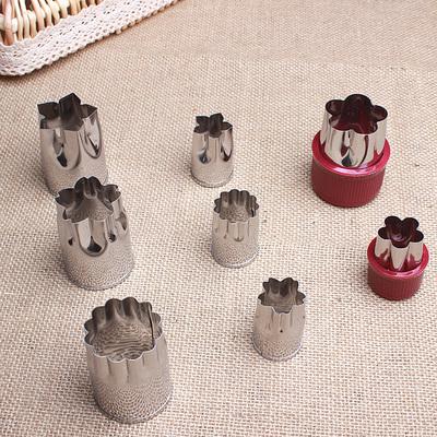 不锈钢水果蔬菜切花器 压花模饼干模印花模 蝴蝶面片胡萝卜造型