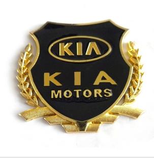 起亚福瑞迪k2k3k5智跑改装配件专用金属麦穗盾形车标志侧标车身贴