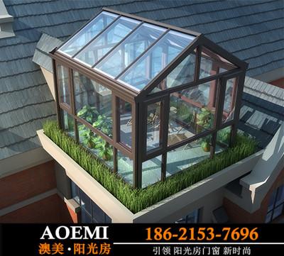 杭州阳光房幕墙 封露台阳台天井屋顶夹胶钢化玻璃别墅花园钢结构
