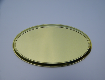 雅方标牌空白椭圆镀金门牌 小蛋圆房间号码牌 金属拉丝标识指示牌