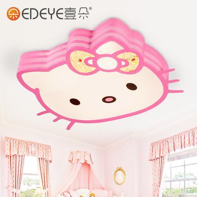 壹朵 儿童房吸顶灯创意卡通kitty猫公主可爱女孩卧室房间led灯具