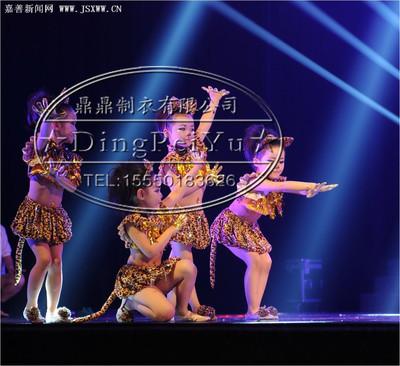 儿童小猫演出服 女童小动物表演服装 幼儿波斯猫花猫咪舞台舞蹈服