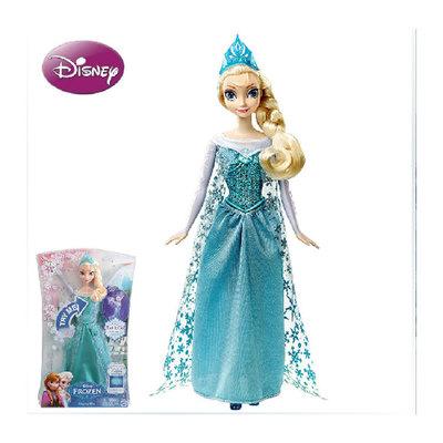 迪士尼公主冰雪奇缘之闪耀安娜艾沙变色艾莎声光艾莎冰雪娃娃