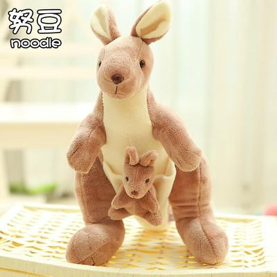 可爱母子袋鼠公仔玩偶毛绒玩具婚庆布娃娃情侣创意