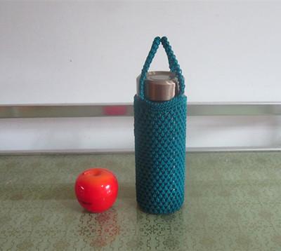 纯手工编织杯套杯袋 可定制 水杯套 隔热保温 杯子套子包邮