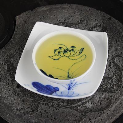 百弘 景德镇手绘青花瓷茶杯 莲花杯碟套组 杯子 品茗杯 陶瓷茶具