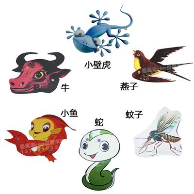 小壁虎借尾巴故事道具动物头饰幼儿园表演教具儿童成人装饰套装
