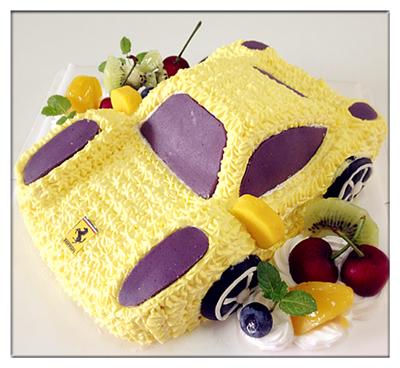 跑车蛋糕图片
