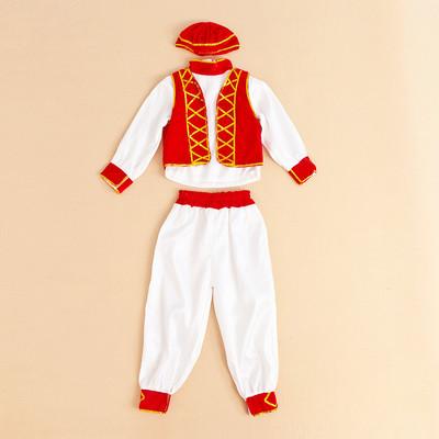 新疆舞蹈演出服装男儿童维吾尔族少数民族特色服饰 维吾尔族男装