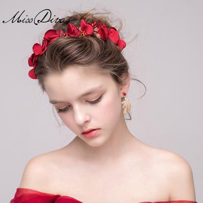 【红色头花新娘图片】_红色头花新娘图片大全_淘宝网