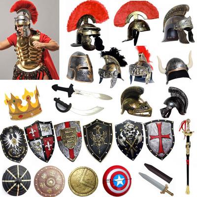 琦郡cos影视武器装备 动漫兵器远征军盾牌斯巴达勇士 古罗马盾牌