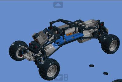 lego乐高创意搭建图纸-四驱越野车-前后避震器nova