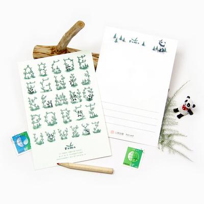 熊猫明信片图片