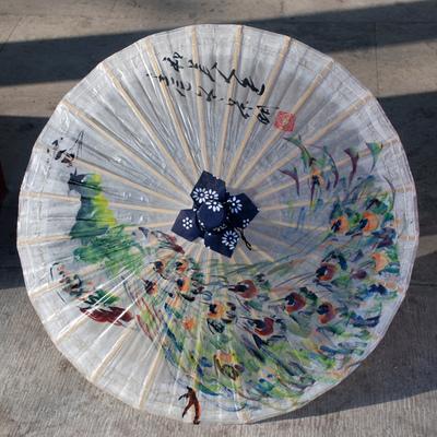 秦风汉月 名家纯手绘中国风经典油纸伞60cm直径灯罩装饰道具
