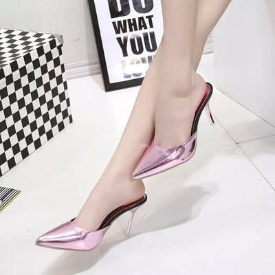 水晶细高跟鞋图片