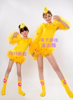 新款小鸡连体动物服成人儿童舞台演出服装小鸡小鸟造型亲子游戏服