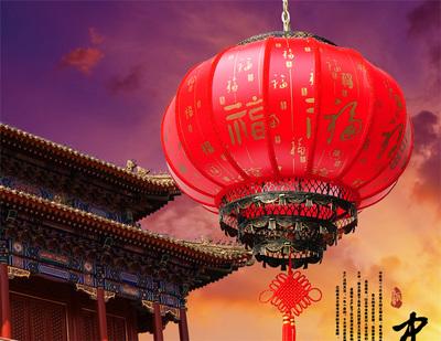 羊皮旋转大红灯笼春节新年节日婚庆户外防水金属骨架仿古宫灯