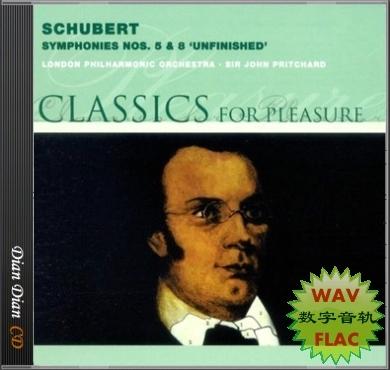 """舒伯特 第五交响曲/第八交响曲""""未完成"""" 指挥 pritchard 数据"""