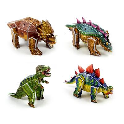 3d立体拼图纸质3d拼图立体动物拼图手工制作恐龙拼图