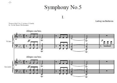 命运交响曲 的曲谱