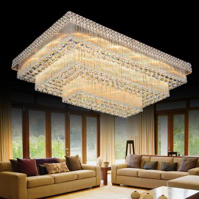灯大气客厅灯长方形吸顶灯现代大厅饰欧式吊顶灯三层