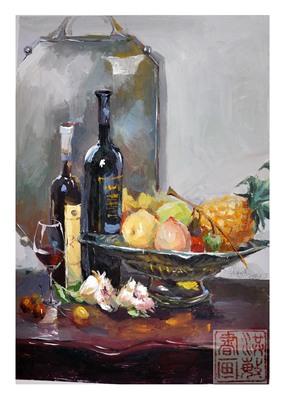 纯手绘风景水粉画 静物 速写 油画 人物肖像 头像 家居装饰礼物