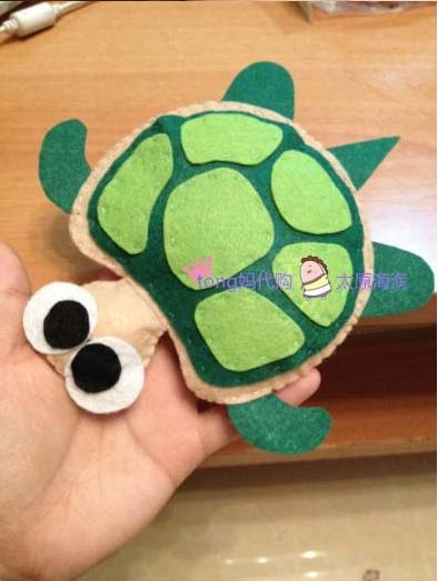 不织布乌龟成品 海洋生物