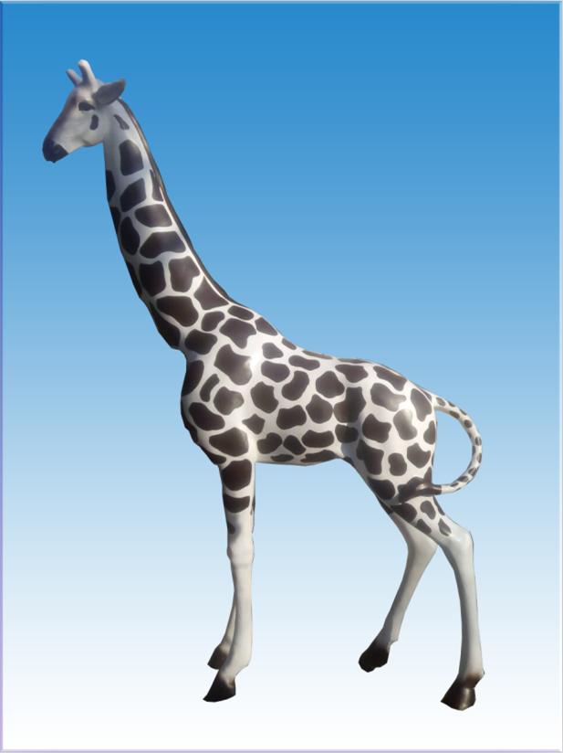 绘马奶牛梅花鹿动物雕塑