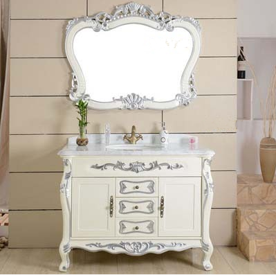 欧式浴室柜橡木落地仿古柜美式卫浴柜洗手实木洗手台