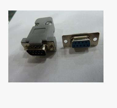 批发db9针/孔串口插头9芯公/母头接头com口 rs232焊接头塑料外壳