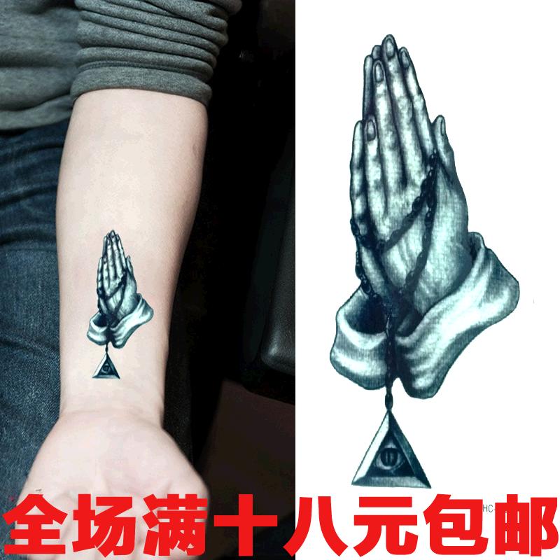 纹身贴 佛手纹身贴 全视之眼刺青 古典l风 手臂刺青 防水 hc-176图片