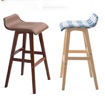 e实木吧台凳子 高脚椅子 酒吧椅 k木凳 橡木梯凳 70高凳