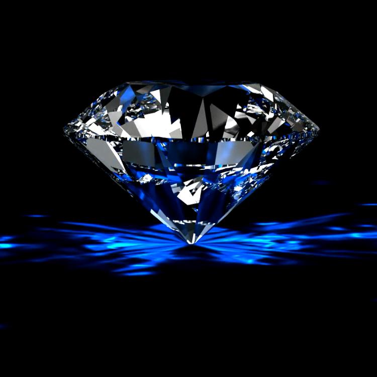 高清婚庆婚礼素材璀璨宝石旋转的蓝色钻石led舞台视频背景素材