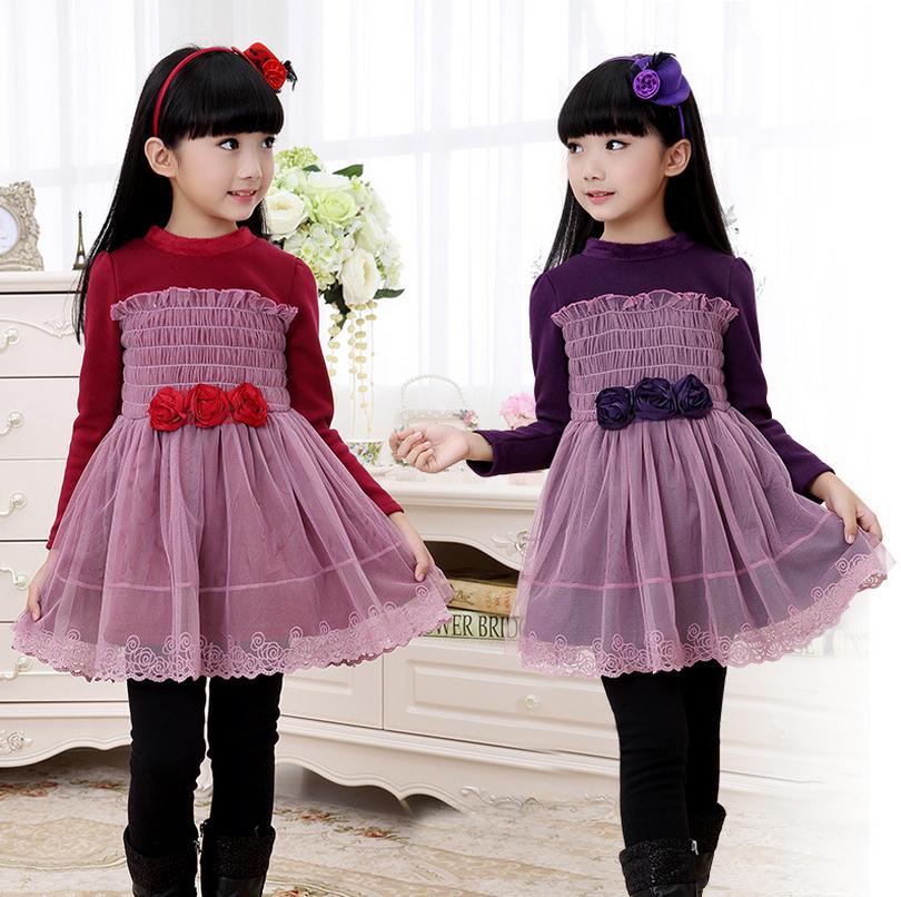 连衣裙6小女孩冬季7加绒公主裙8儿童冬天裙子4-10岁