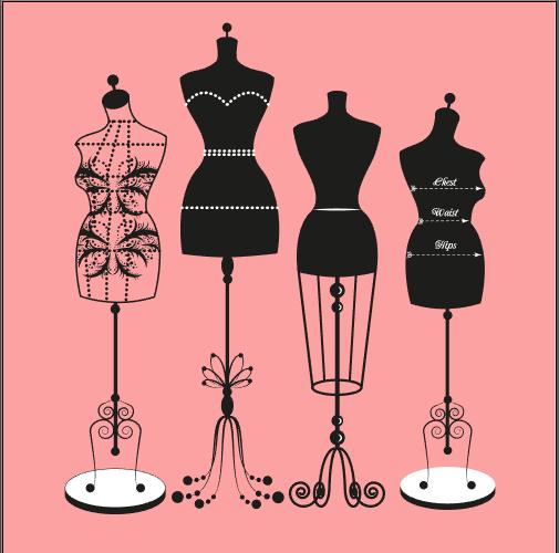 衣架衣服模特素材 门店吊牌logo设计 矢量设计稿源文件3y26