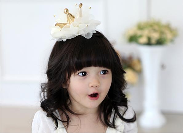 宝宝网纱pu皇冠发箍 小女孩可爱公主发饰