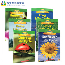 英文绘本Science Vocabulary Readers L1:Life Cycles horse butterfly frog sunflower 6册 儿童科普生命周期 科学基础词汇学习