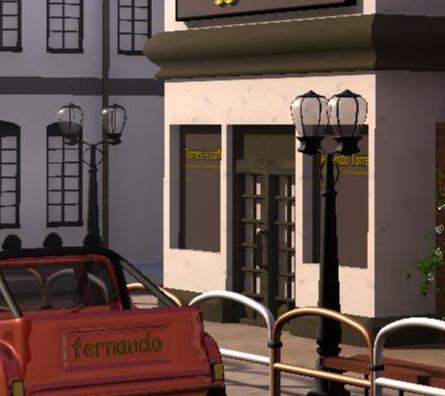 max动画游戏场景欧式建筑q版街道房子贴图