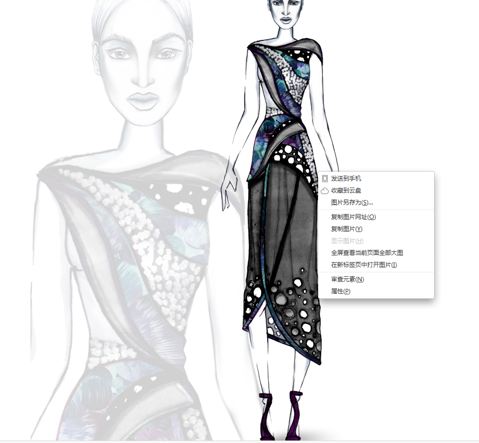 1075超炫电脑时装画效果图设计大赛入围参考图时装插画手绘图网站