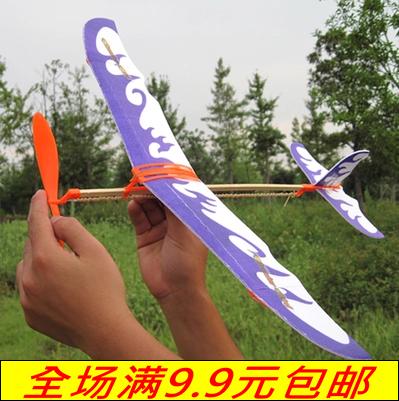 橡皮筋动力双翼滑翔飞机
