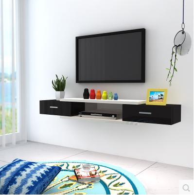 客廳電視柜壁掛臥室機頂盒懸掛式烤漆裝飾架影視墻
