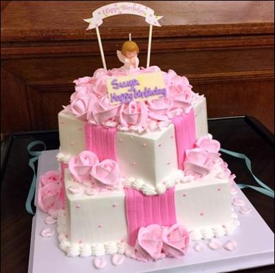 周岁满月生日蛋糕深
