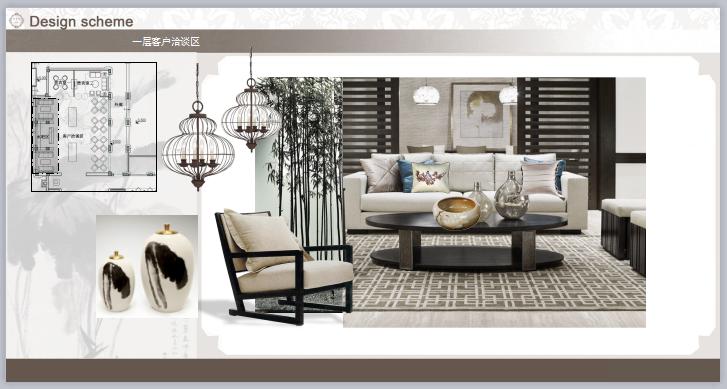 新中式会所室内设计软装概念方案ppt模板可编辑无水印素材资料