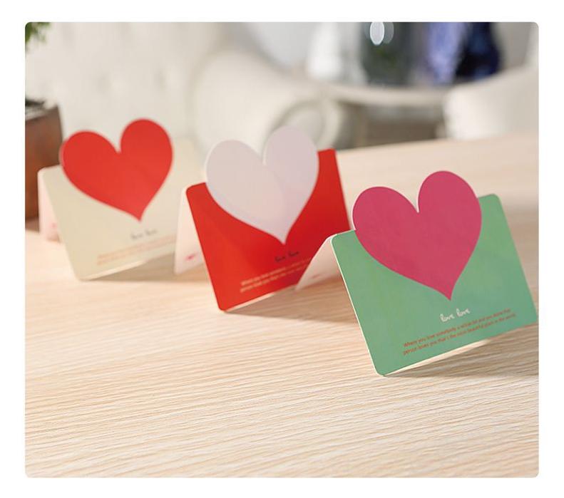 創意表白賀卡 教師節感恩愛心祝福賀卡 帶信封 生日空白小卡片