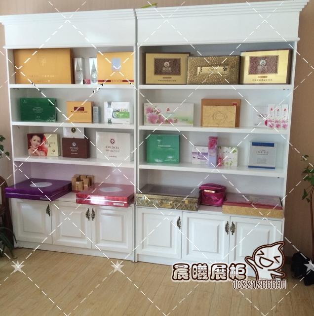 木制烤漆欧式包包化妆品展柜精品货架美容院专卖店