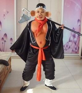 ??猪八戒服装演出道具全套成人猪八戒衣服肚皮西游记猪八戒套装。