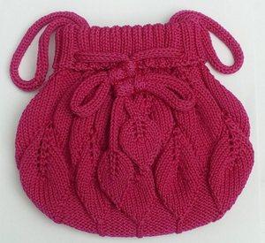 毛线编织包手袋
