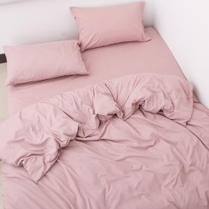 老顧客一定來!原109歐!純棉簡約枕套被套床單 純色全棉四件套