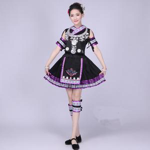 苗族服装瑶族演出服女云南彝族少数民族壮族黎族土家族舞蹈服服饰